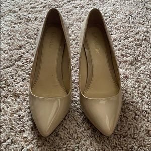 Nude Point Toe Pumps
